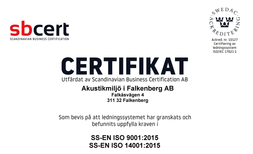 amacoustics_iso_certificate