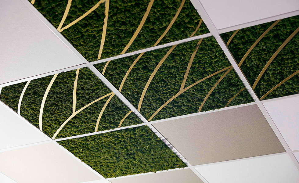 Moss In the Grid Ceiling
